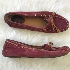 Clarks Suede Loafer Bow Flats Size 5.5